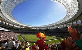 Det nybyggede VM-stadion i Cape Town. Anslået pris: 500 millioner Euro