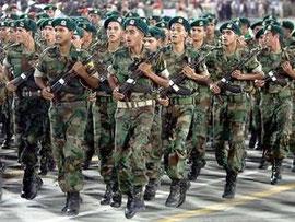 Eliteenheder, ledet af Gaddafis sønner