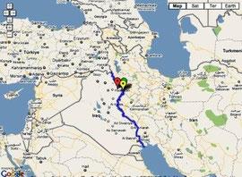 Dette kort viser området for hændelserne