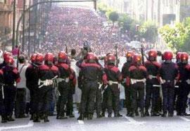 antirepressionsdemo i Bilbao