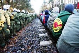 atomtransport-blokade ved Gorleben