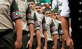 Det højreekstremistiske parti Jobbik's paramilitære 'Ungarske Garde'