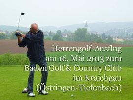Herrengolf-Ausflug 2013, GCC Baden Golf, Kraichgau. Foto Rainer Sturm stormpic.de