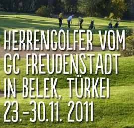 Golfwoche im Calista-Golf-Resort, Belek. 2011. Golf-Club Freudenstadt. Foto Rainer Sturm stormpic.de