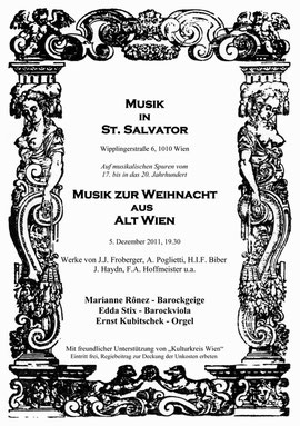 Kulturkreis Wien Konzert: Musik zur Weihnacht aus Alt Wien - Haydn u.a.