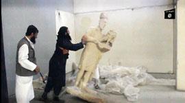 quand les statues de Mossoul font peur aux djihadistes...