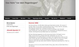 """Screenshot Startseite """"Heim vor dem Regenbogen"""""""