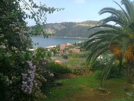 Blick von der Villa Theodora auf unsere Bucht
