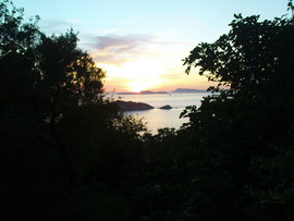 Sonnenuntergang in Afionas