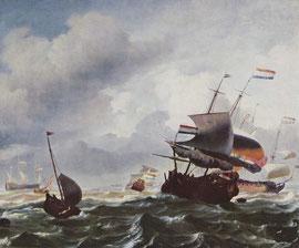 "Ludolf Bachhuysen: ""Schiffe im Sturm"" (1667)"