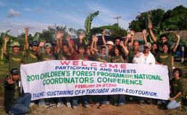フィリピンの「子供の森」計画のコーディネーターたち