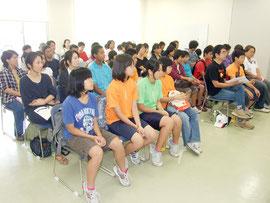 竹富町子ども会育成連絡協議会の定期総会が開かれた=12日午後、離島ターミナル