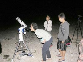 黒島で星空観望会が開催された(提供写真)