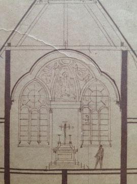Ursprüngliches Fenster vom Betsaal