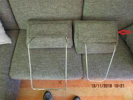 Die Verarbeitung der Sitzvorderkanten ist nähtechnisch bedingt