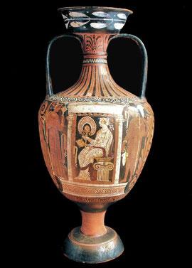 Anfora a fig. rosse, Magna Grecia,  IV sec. a. C.