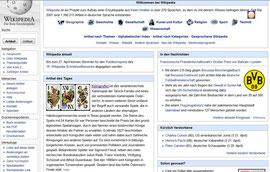 22. April 2012: Artikel des Tages auf Wikipedia