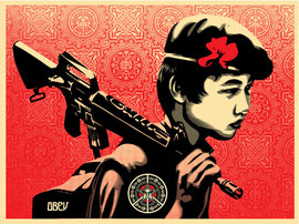 Shepard Fairey Duality of Humanity II
