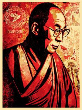 Shepard Fairey Dalai Lama