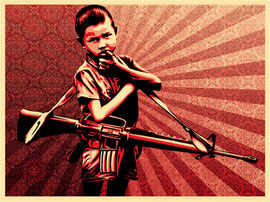 Shepard Fairey Duality of Humanity V