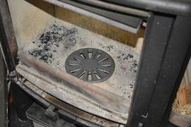 薪ストーブの目皿交換