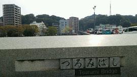 鶴見橋から比治山を望む