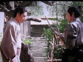 番組の一場面。吉田松陰(左)と前原一誠