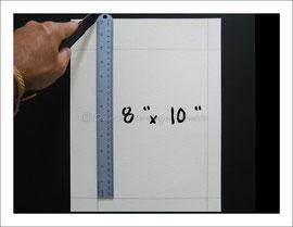 """Cut 8"""" x 10"""" inch mat"""