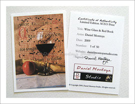 ACEO Certificate of Authenticity