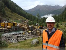 Baustellenbegehung Wasserkraftwerk Lavinoz, Lavin/GR