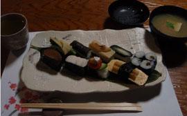 お漬物のお寿司ランチ