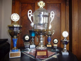 Die Meister-Pokale des Schachklub Bobingen