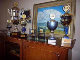 Die Pokale für die Meisterschaften von 2011