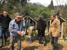 山神の社と愛宕神の社
