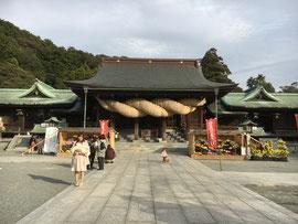 宮地嶽神社の大注連縄