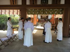 祭典前の習礼