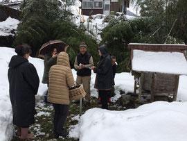 当屋宅での神籬祭祀のあと荒神社へ参拝 28日宮坂荒神祭