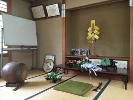栗尾神社祭 神籬祭壇