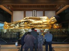 一畑山薬師寺の黄金の涅槃像