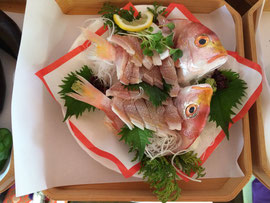 調理神饌の活鯛