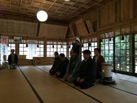 福榮神社での祈願祭