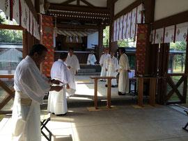 鳥取県護國神社の習礼
