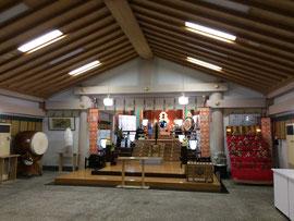 二見興玉神社 拝殿内