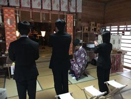 JR西日本米子車掌区「合格祈願切符」祈願祭