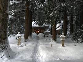 紀元祭 大雪の早朝