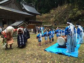 福榮神社のかしら打ち