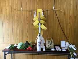 愛宕祭の祭壇