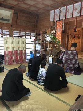 午前中の七五三詣祈願祭