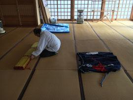 多里神社の撤収作業
