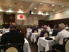 県神社総代会の会長挨拶